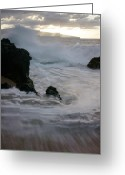 Beach Photographs Greeting Cards - Me Ka Wai Ao Paako o Napenape ka wai Greeting Card by Sharon Mau