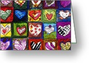 Cartoons Greeting Cards - Me Luv Greeting Card by Mindy Newman
