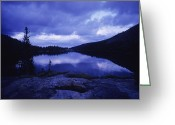 Evening Light Greeting Cards - Mead Lake During Evening Light Greeting Card by Bobby Model