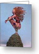 Vine Mixed Media Greeting Cards - Meadow a sculpture by Adam Long Greeting Card by Adam Long
