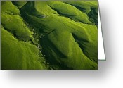 Grasslands Greeting Cards - Meandering Valleys Of Texaco Hill Greeting Card by Jim Richardson