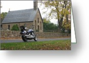 Carversville Greeting Cards - Meataphysical Motorcycling Greeting Card by Pat Colucci
