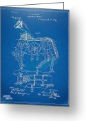 Tour De France Greeting Cards - Mechanical Horse Toy Patent Artwork 1893 Greeting Card by Nikki Marie Smith