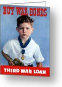 Warishellstore Greeting Cards - Medal Of Honor Child  Greeting Card by War Is Hell Store