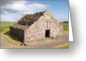12th Century Greeting Cards - Mediaeval Hospital Ruins, Scotland Greeting Card by Duncan Shaw