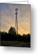 Broadcast Antenna Greeting Cards - Mediator  Greeting Card by Venura Herath
