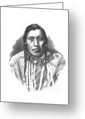 Native Drawings Greeting Cards - Medicine Pipe Greeting Card by Lee Updike