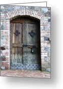 Passageways Greeting Cards - Medieval Door Greeting Card by Carol Groenen