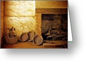 Wicker Baskets Greeting Cards - Medieval Merchants House Greeting Card by Gerry Walden