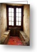 Architect Photo Greeting Cards - Medieval Window Greeting Card by Carlos Caetano