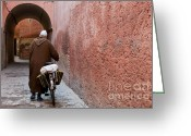 Cyclist Greeting Cards - Medina man Greeting Card by Marion Galt