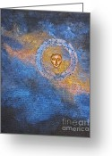 Sacred Body Greeting Cards - Meditation 12 Greeting Card by Ellen Miffitt