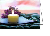 Meditative Greeting Cards - Meditation Candle Greeting Card by Olivier Le Queinec