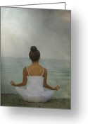 T-shirt Greeting Cards - Meditation Greeting Card by Joana Kruse
