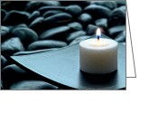 Aromatherapy Greeting Cards - Meditation  Greeting Card by Olivier Le Queinec