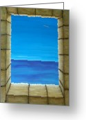 Sea View Greeting Cards - Meditation Greeting Card by Pamela Allegretto