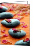 Meditative Greeting Cards - Meditation Zen Path Greeting Card by Olivier Le Queinec