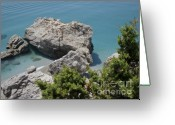 Vacation Destination Greeting Cards - Mediterranean Summer Greeting Card by Andy Smy