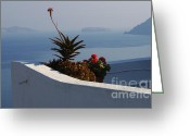 The Edge Greeting Cards - Mediterranean Views Greeting Card by Bob Christopher