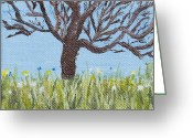 Kingston Greeting Cards - Meet me at the Tree 1 Greeting Card by Angella Kingston
