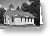 Churches Photo Greeting Cards - Meeting House Greeting Card by Richard Rizzo