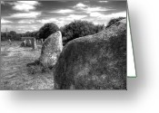 Ancient Civilization Greeting Cards - Megalithes In Carnac Greeting Card by Philwebbphotography
