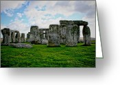 Burials Greeting Cards - Megaliths Greeting Card by Heather Applegate