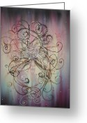 Female Fairy Abstract Greeting Cards - Melanie Greeting Card by Krystyna Spink