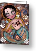 Eyes.fantasy Greeting Cards - Melissa Greeting Card by  Abril Andrade Griffith