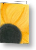 Flower. Petals Pastels Greeting Cards - Mellow Yellow Greeting Card by Juanita Gilchrist