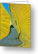 Terry Digital Art Greeting Cards - Mellow Yellow Greeting Card by Terry Anderson