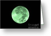 Lunar Greeting Cards - Melon Moon Greeting Card by Al Powell Photography USA