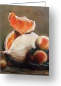 Chardin Greeting Cards - Melons Greeting Card by Darlene LeVasseur Melendez