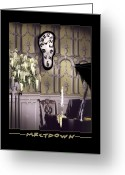 Clock Art Greeting Cards - Meltdown Greeting Card by Mike McGlothlen