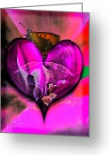 Johannessen Greeting Cards - Melting A Geraniums Heart Greeting Card by Torfinn Johannessen