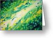 Storm Sculpture Greeting Cards - Melting Jade Greeting Card by Daniel Lafferty