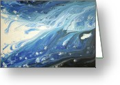 Storm Sculpture Greeting Cards - Melting Ocean Greeting Card by Daniel Lafferty