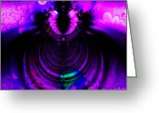 Mandelbrot Set Greeting Cards - Melting Pot . Square . S8a.S11 Greeting Card by Wingsdomain Art and Photography