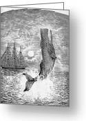 Dick Greeting Cards - Melville: Moby Dick Greeting Card by Granger