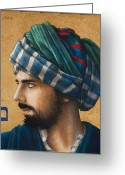 Turban Greeting Cards - Mem Sofit Greeting Card by Jose Luis Munoz Luque