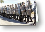 Military Police Greeting Cards - Members Of The Security Forces Squadron Greeting Card by Stocktrek Images