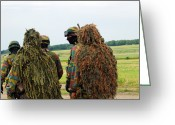 Camouflage Clothing Greeting Cards - Members Of The Special Forces Group Greeting Card by Luc De Jaeger