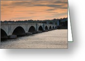 Cities Greeting Cards - Memorial Bridge I Greeting Card by Steven Ainsworth
