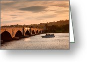 Arlington Memorial Bridge Greeting Cards - Memorial Bridge II Greeting Card by Steven Ainsworth