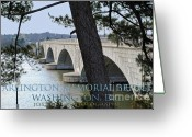 Arlington Memorial Bridge Greeting Cards - Memorial Bridge Greeting Card by Jost Houk