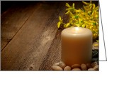 Meditative Greeting Cards - Memorial Candle Greeting Card by Olivier Le Queinec