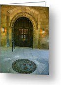 Entrance Door Greeting Cards - Memorial Hall I Greeting Card by Steven Ainsworth