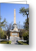 Commemorative Greeting Cards - Memorial Monument in Madrid Greeting Card by Artur Bogacki