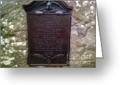 Gettysburg Greeting Cards - Memorial Tablet To Signal Corps U.S.A. Greeting Card by Christian David Photography AKA Christian Wilson