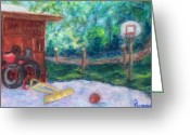 Woods Pastels Greeting Cards - Memories 3 Greeting Card by Sandy Hemmer